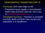 demographic transition cont d