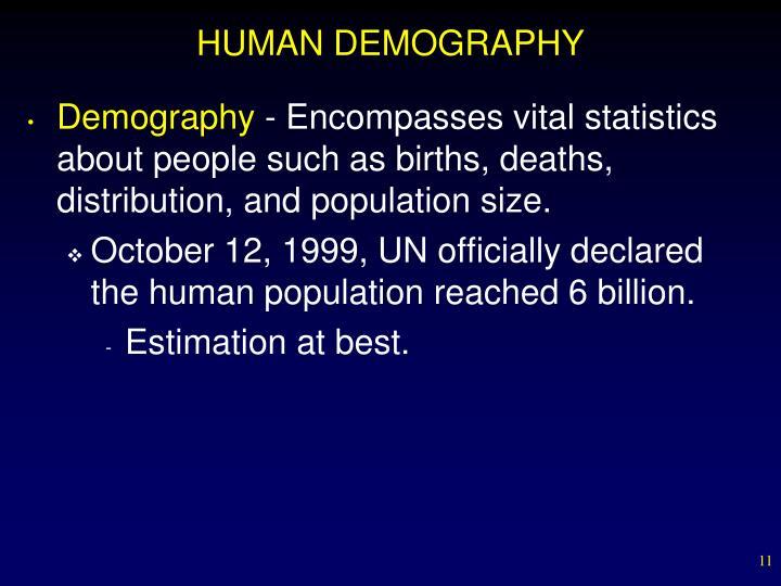 HUMAN DEMOGRAPHY