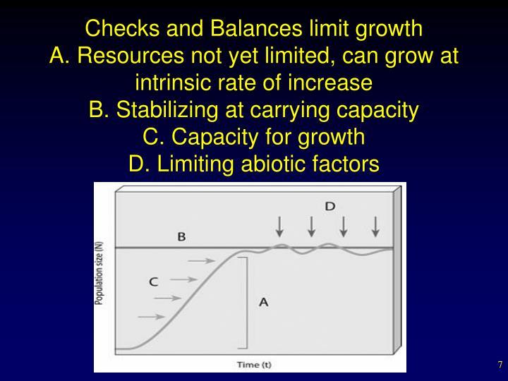 Checks and Balances limit growth