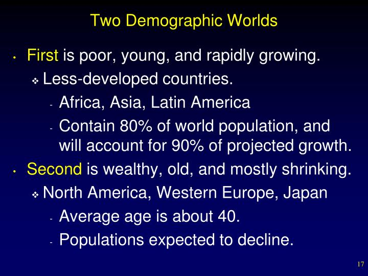 Two Demographic Worlds