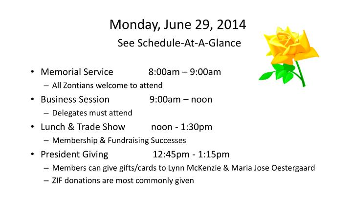 Monday, June 29, 2014