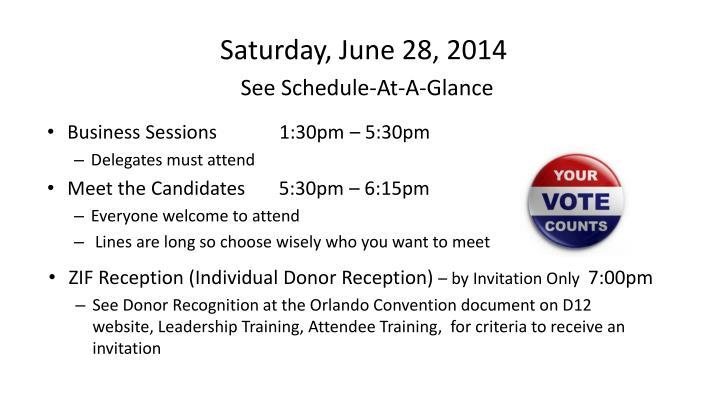 Saturday, June 28, 2014