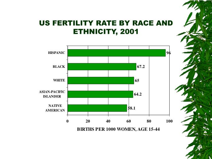 US FERTILITY RATE BY RACE AND ETHNICITY, 2001