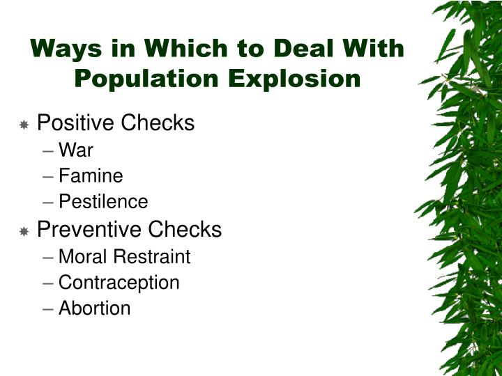 Ways in Which to Deal With Population Explosion