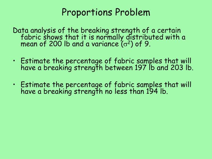 Proportions Problem
