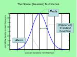 the normal gaussian distribution