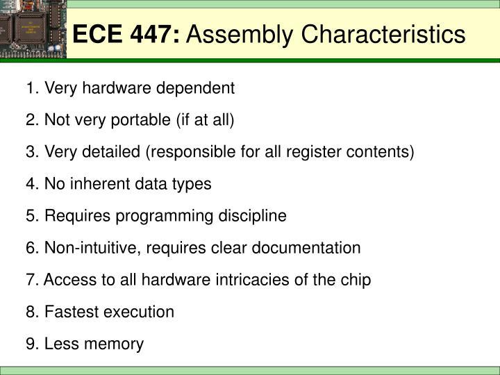 1. Very hardware dependent