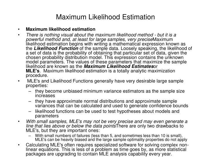 Maximum Likelihood Estimation