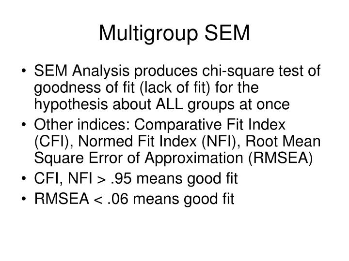 Multigroup SEM
