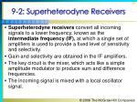 9 2 superheterodyne receivers