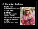 3 high key lighting