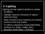 4 lighting