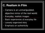 c realism in film