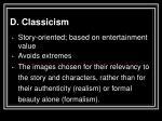 d classicism