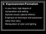 e expressionism formalism