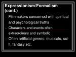 expressionism formalism cont