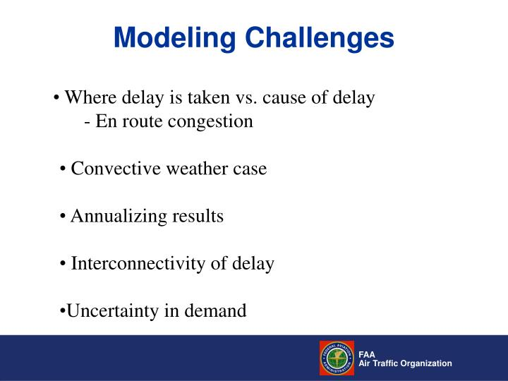 Modeling Challenges
