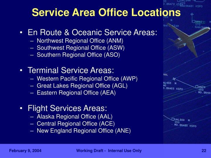 Service Area Office Locations