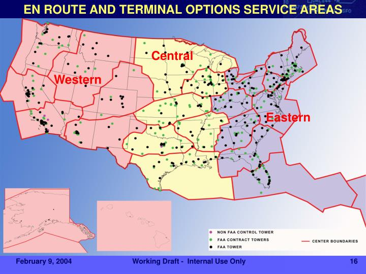 EN ROUTE AND TERMINAL OPTIONS SERVICE AREAS