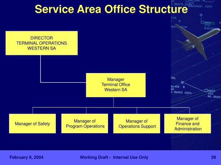 Service Area Office Structure
