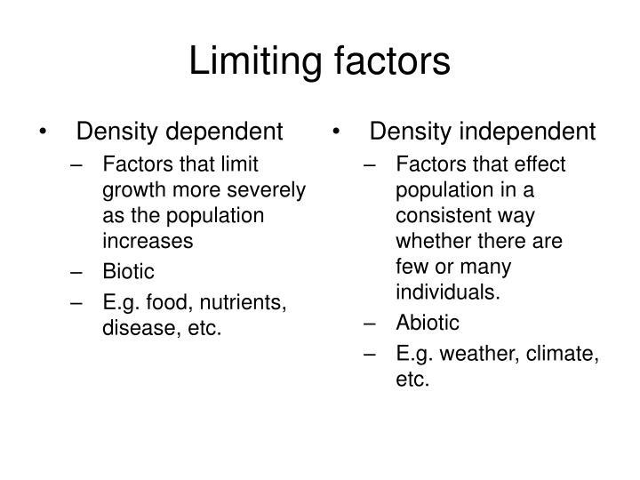Density dependent