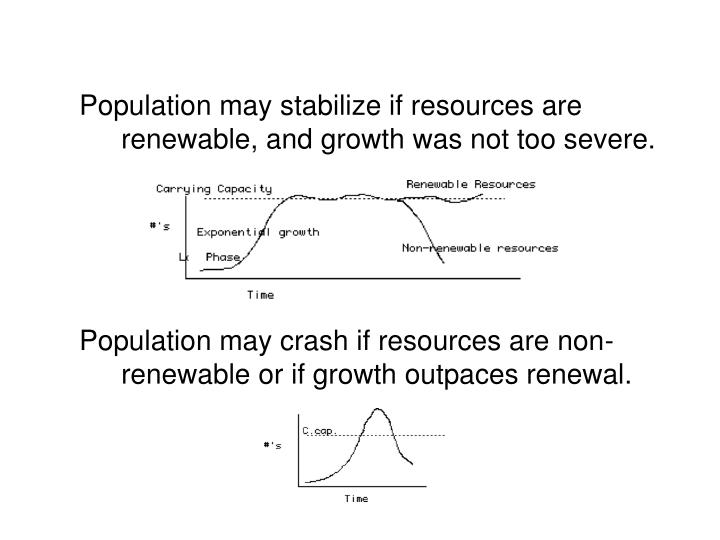 Population may stabilize if resources are renewable, and growth was not too severe.