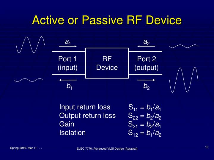 Active or Passive RF Device