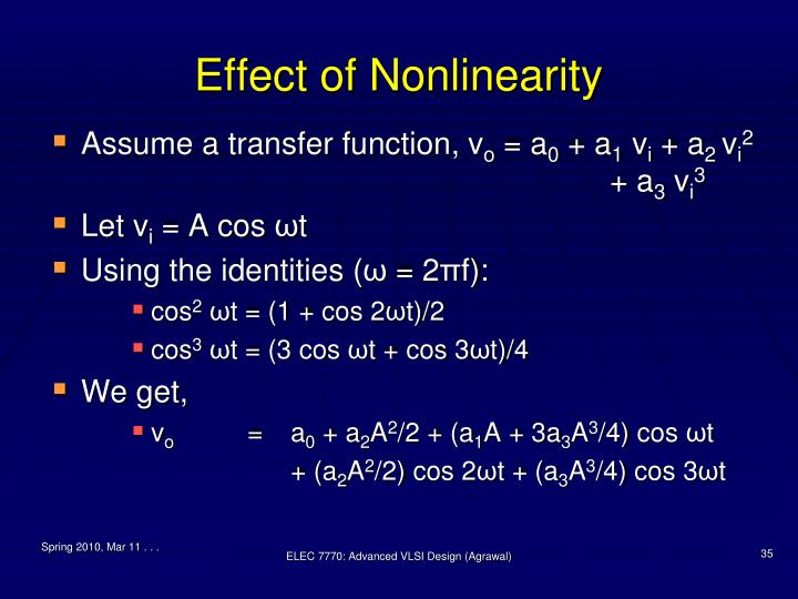 Effect of Nonlinearity