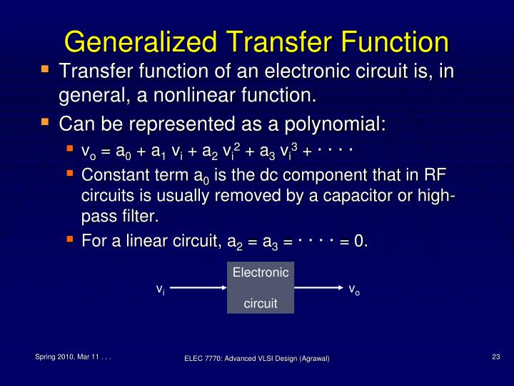 Generalized Transfer Function