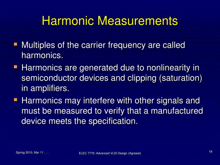 Harmonic Measurements