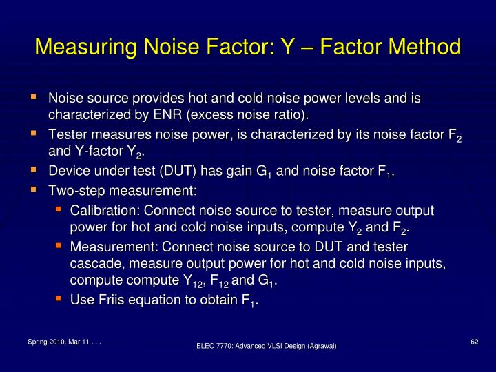 Measuring Noise Factor: Y – Factor Method