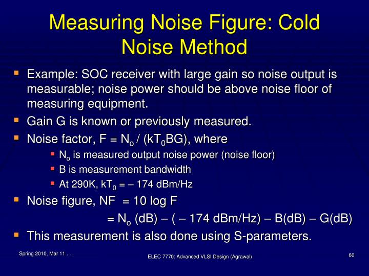 Measuring Noise Figure: Cold Noise Method