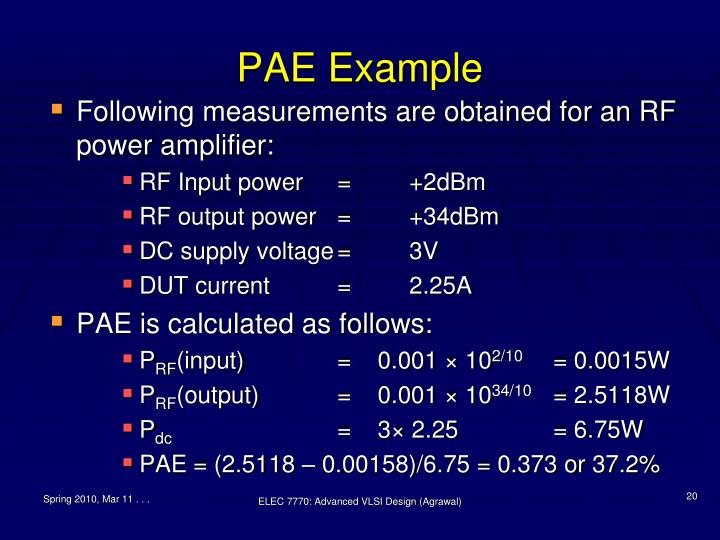 PAE Example