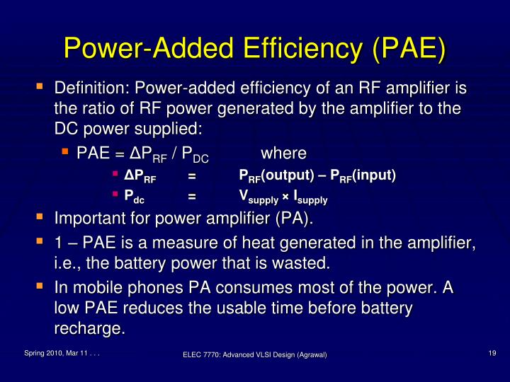 Power-Added Efficiency (PAE)