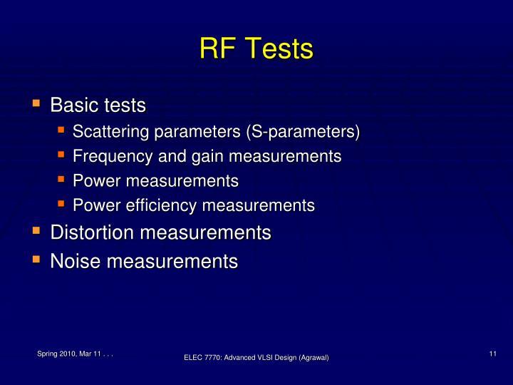 RF Tests