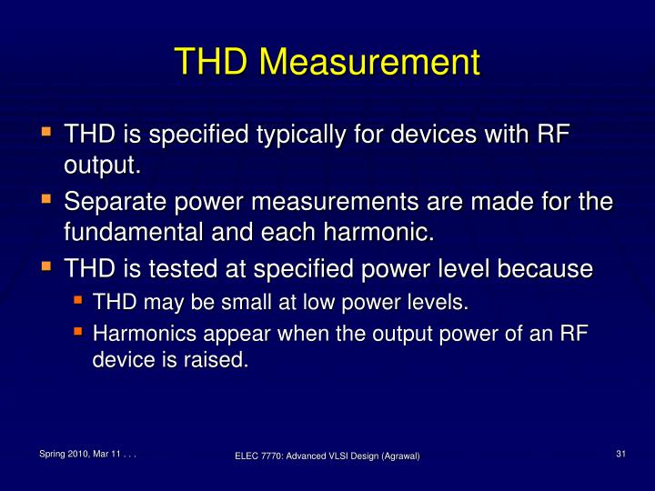 THD Measurement