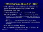total harmonic distortion thd