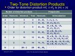 two tone distortion products
