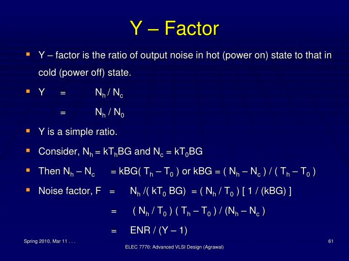 Y – Factor