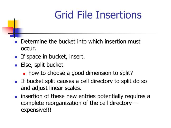 Grid File Insertions