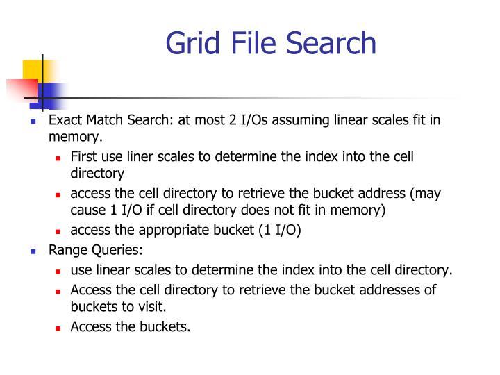 Grid File Search