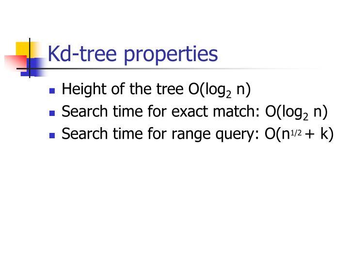 Kd-tree properties