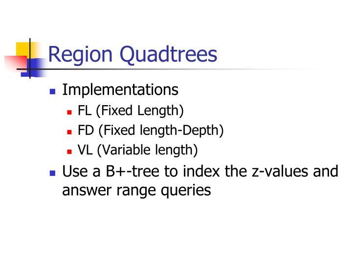 Region Quadtrees