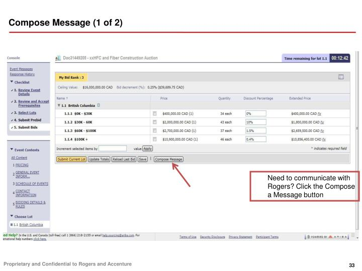 Compose Message (1 of 2)