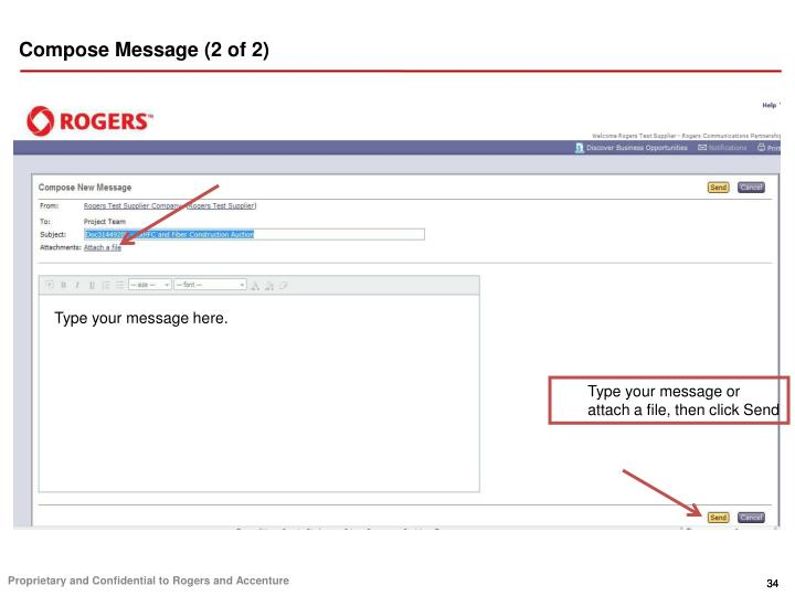Compose Message (2 of 2)