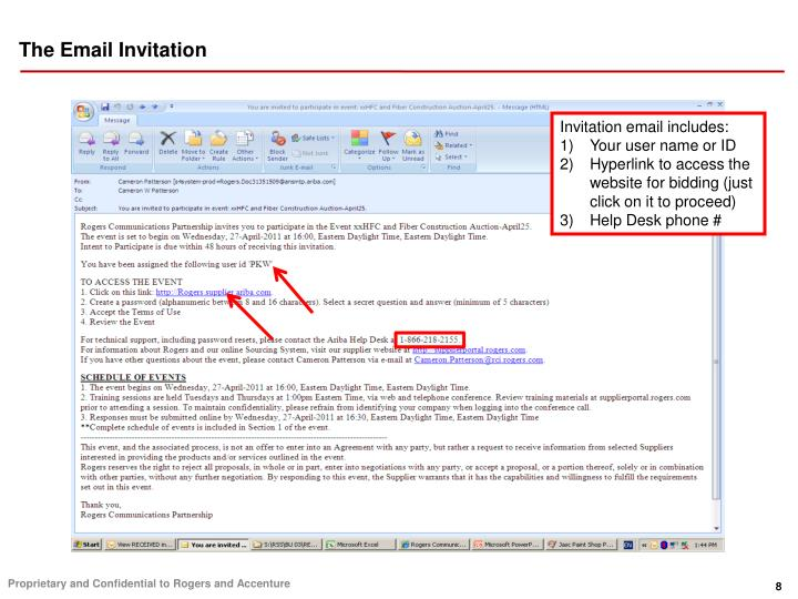 The Email Invitation