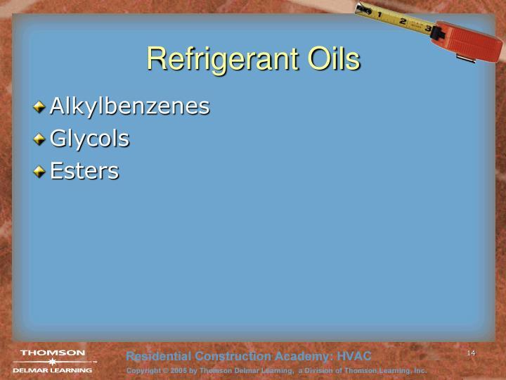 Refrigerant Oils