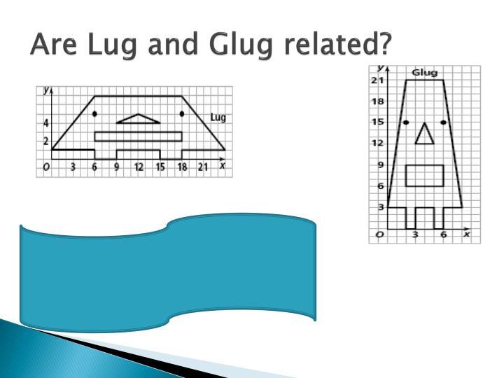 Are Lug and Glug related?
