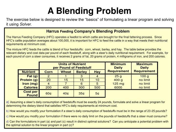 A Blending Problem