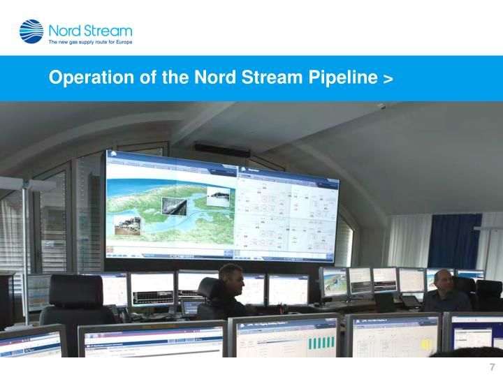 Operation of the Nord Stream Pipeline >